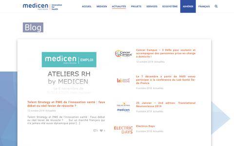Screenshot of Blog medicen.org - Blog - Medicen - captured Oct. 17, 2018