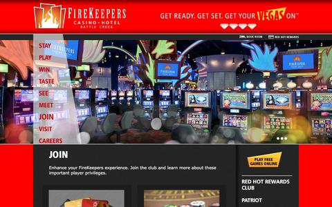 Screenshot of Signup Page firekeeperscasino.com - Join  | FireKeepers Casino Hotel - captured Oct. 13, 2017