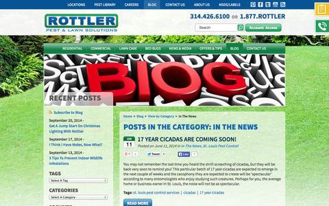 Screenshot of Press Page rottler.com - Blog Category - Category Page 1 - captured Sept. 24, 2014