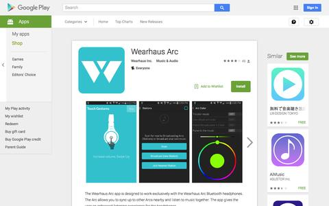 Screenshot of Android App Page google.com - Wearhaus Arc - Android Apps on Google Play - captured Nov. 17, 2015