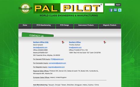 Screenshot of Contact Page palpilot.com - Contact Us |PalPilot - captured Oct. 1, 2014