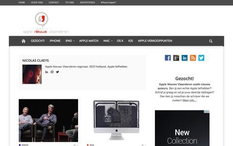 Nicolas Claeys, auteur op Apple Nieuws Vlaanderen