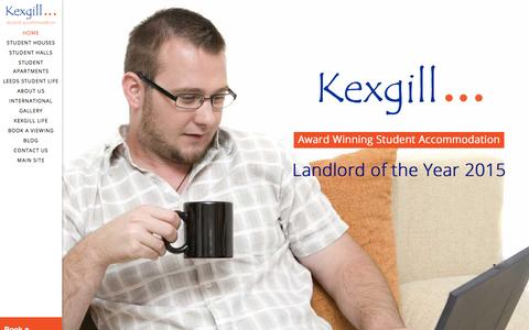 Screenshot of Home Page student-accommodation-leeds.com - Student Accommodation Leeds – By Kexgill - captured March 17, 2016
