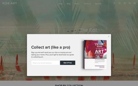 Screenshot of Home Page riseart.com - Buy Art Online | Affordable Art For Sale | Rise Art - captured July 13, 2018