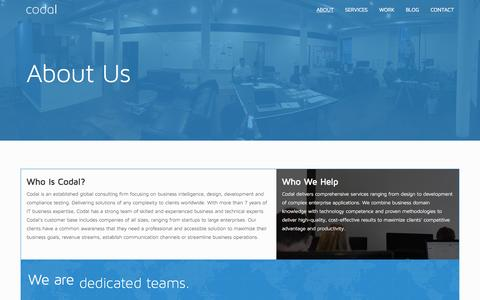 About Us - What We Do, Who We Help | Codal