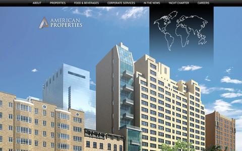 Screenshot of Home Page americanproperties.com - American Properties | Home - captured Nov. 20, 2016