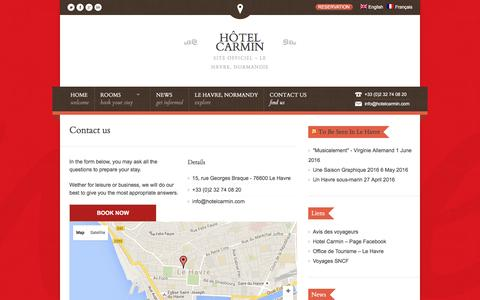 "Screenshot of Contact Page hotelcarmin.com - <div class=""at-above-post-recommended""></div><div class=""at-above-post""></div>Contact us 