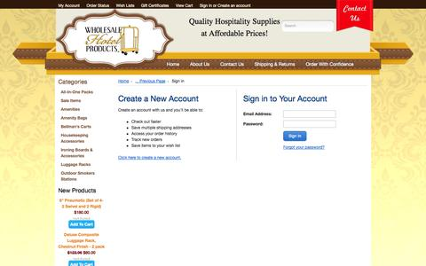 Screenshot of Login Page mybigcommerce.com - Wholesale Hotel Products  - Sign in - captured Sept. 18, 2014