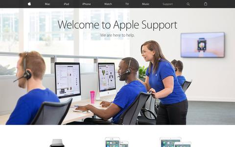 Screenshot of Support Page apple.com - Official Apple Support - captured Sept. 30, 2015