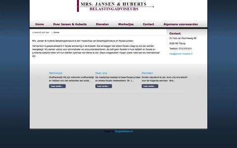 Screenshot of Home Page jansen-huberts.nl - Home - captured Oct. 7, 2014