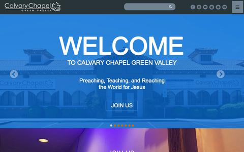 Screenshot of Home Page ccgreenvalley.org - Calvary Chapel Green Valley | Henderson, NV - captured Sept. 26, 2018
