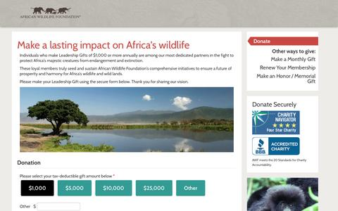 Screenshot of Team Page awf.org - Make a lasting impact on Africa's wildlife | African Wildlife Foundation - captured Jan. 3, 2017