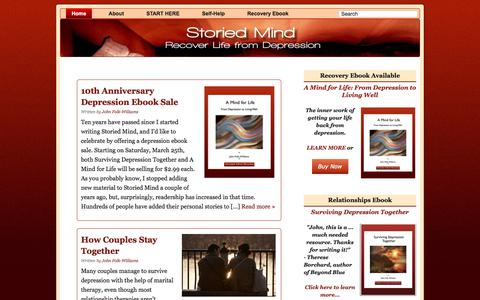 Screenshot of Home Page storiedmind.com - Recover Life from Depression - Storied Mind - captured Oct. 29, 2017