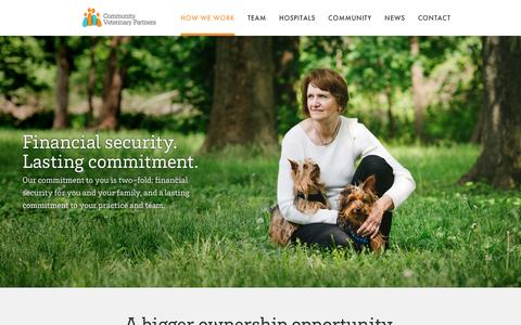 Screenshot of About Page cvpco.com - How We Work – Community Veterinary Partners - captured Nov. 10, 2016