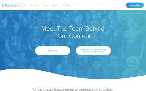 Screenshot of Team Page influenceandco.com - Our Team | Influence & Co. - captured April 13, 2018