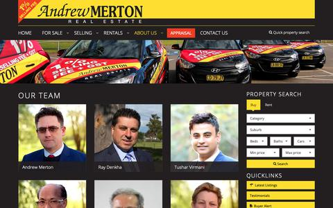 Screenshot of About Page Team Page andrewmerton.com.au - Andrew Merton Real Estate - Our Team - captured Oct. 3, 2018