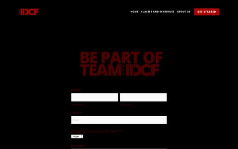 Screenshot of Contact Page districtcrossfit.com - Get Started — District CrossFit - captured Nov. 1, 2017