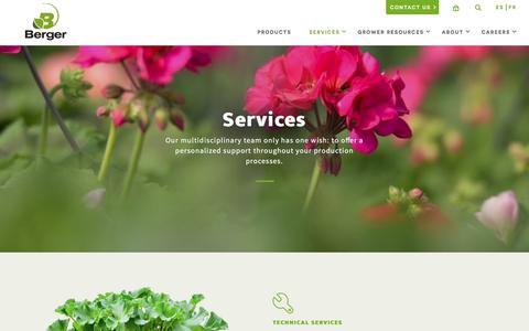 Screenshot of Services Page berger.ca - Services | Berger - EN - captured Nov. 22, 2016