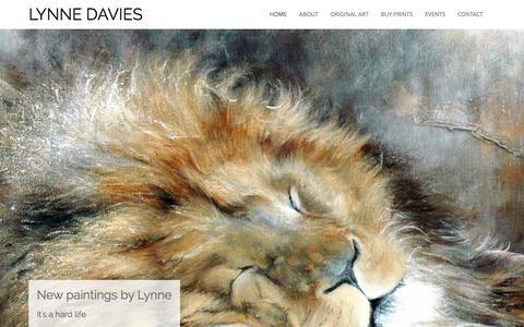 Screenshot of Home Page lynnedavies.com - Lynne Davies Art - Paintings & Limited Edition Prints - captured Jan. 14, 2016