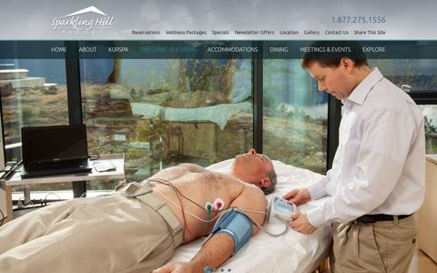 Screenshot of Services Page sparklinghill.com - KurSpa Clinic Services | Sparkling Hill Resort - captured Sept. 19, 2014