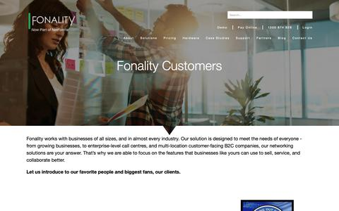 Screenshot of Case Studies Page fonality.com.au - Business Phone System Customers | Fonality Customers - captured Oct. 10, 2018