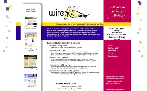 Screenshot of Pricing Page wireflydesign.com - We have a transparent pricing structure... - captured Oct. 26, 2014