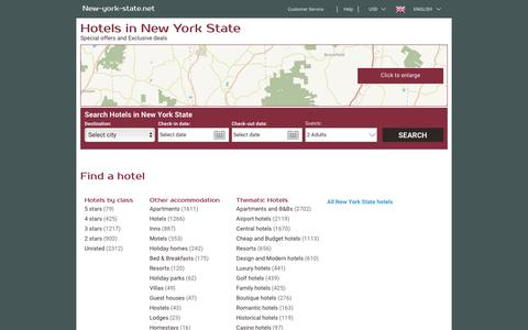 Screenshot of Home Page new-york-state.net - New York State hotels & apartments, all accommodations in New York State – new-york-state.net - captured July 11, 2018