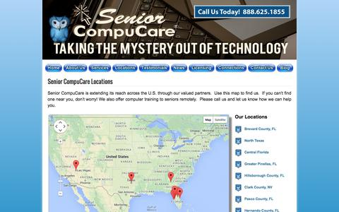 Screenshot of Locations Page seniorcompucare.com - Locations | Senior CompuCare - captured Oct. 26, 2014