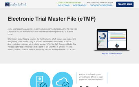 Electronic Trial Master Files | Trial Interactive