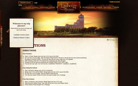 Screenshot of Maps & Directions Page llakecharles.com - Directions » L'Auberge - captured Sept. 25, 2014