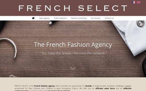 Screenshot of Home Page french-select.com - French Select - The fashion agency in France - captured Aug. 3, 2015