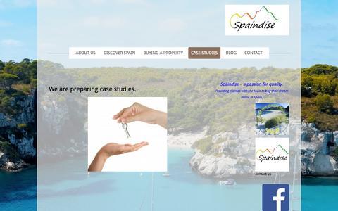 Screenshot of Case Studies Page spaindise.com - Case Studies - Spaindise - captured Oct. 29, 2014