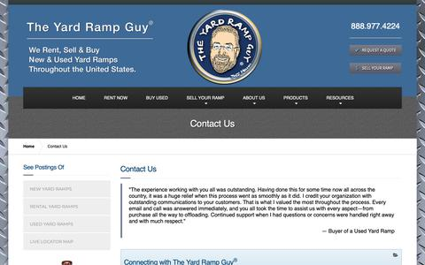 Screenshot of Contact Page yardrampguy.com - The Yard Ramp Guy® > Contact Us - captured Oct. 19, 2018
