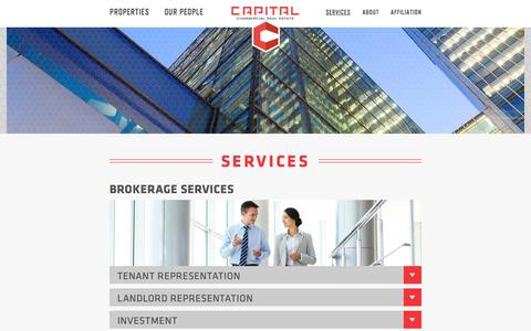Screenshot of Services Page capitalcre.com - Services | Capital Commercial Real Estate - captured Oct. 1, 2014