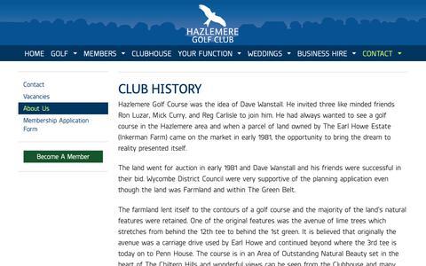 Screenshot of About Page hazlemeregolfclub.co.uk - About Us - Hazlemere Golf Club - captured Oct. 22, 2018