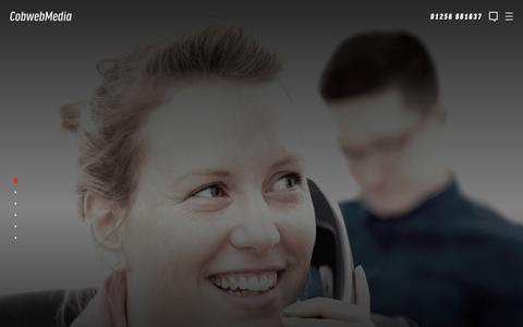 Screenshot of Contact Page cobwebmedia.co.uk - Contact Us | Web Design Experts Covering Basingstoke, Hampshire & Berkshire - captured May 19, 2017