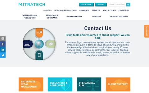 Screenshot of Contact Page mitratech.com - Contact Us | Mitratech - captured March 10, 2017