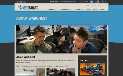 Screenshot of About Page warchest.com - About WarChest | WarChest - captured Sept. 23, 2014