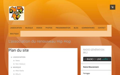 Screenshot of Site Map Page hiphopregenerates.com - Plan du site - HipHopRegenerates Web site! - captured Sept. 26, 2014