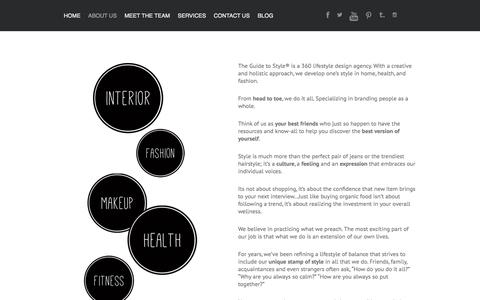 Screenshot of About Page theguidetostyle.com - The Guide to Style   –  ABOUT US - captured Oct. 26, 2014