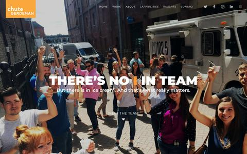 Screenshot of Team Page chutegerdeman.com - Team 2017 - Chute Gerdeman - Award winning retail design and branding - captured July 17, 2018