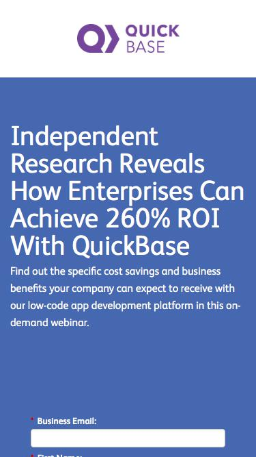 The Economic Impact of QuickBase Webinar with Forrester Consulting | QuickBase