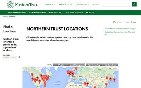 Screenshot of Locations Page northerntrust.com - Northern Trust Office Locations - captured Nov. 17, 2015