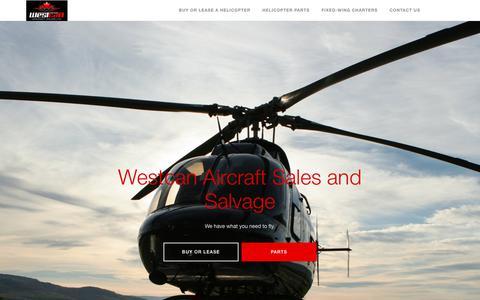 Screenshot of Home Page westcanaircraft.com - Westcan Aircraft Sales and Salvage | Kamloops, BC, Canada - Westcan Aircraft Sales and Salvage - captured Nov. 7, 2017