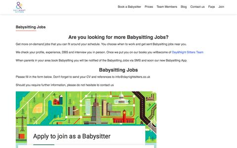Screenshot of Signup Page daynightsitters.co.uk - Babysitting Jobs – Babysitting Agency in London - captured Oct. 12, 2017