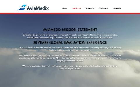 Screenshot of About Page aviamedix.com - AviaMedix   ABOUT US - captured Nov. 6, 2018