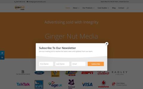 Screenshot of Home Page gingernutmedia.co.uk - Ginger Nut Media - Lead Generation & Email Marketing - captured July 13, 2016