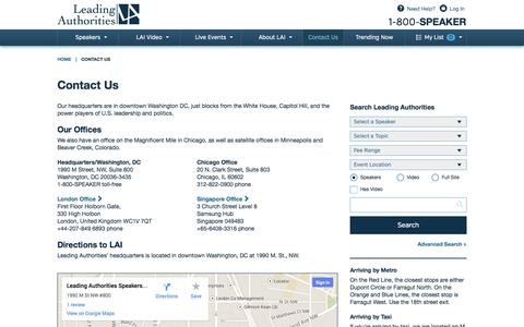 Screenshot of Contact Page leadingauthorities.com - Contact Us - captured Sept. 24, 2014