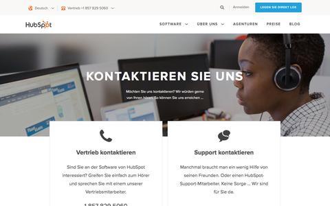 Screenshot of Contact Page hubspot.de - Kontakt | HubSpot - captured April 28, 2017