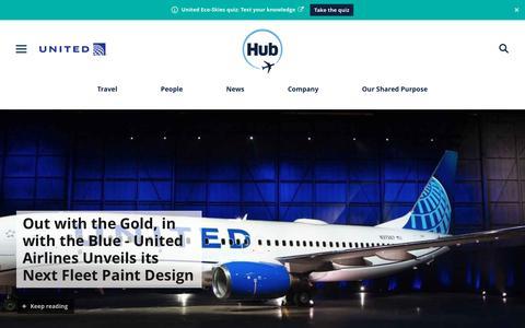 Screenshot of Press Page united.com - United Hub - Newsroom - captured April 30, 2019